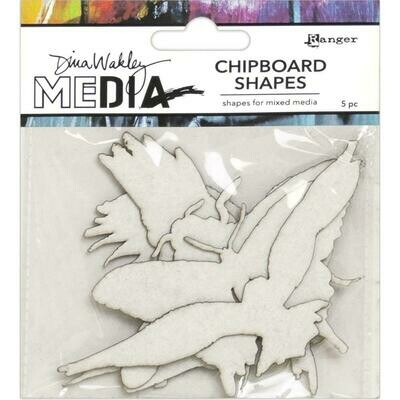 PREORDER Dina Wakley Media Chipboard Shapes Flying