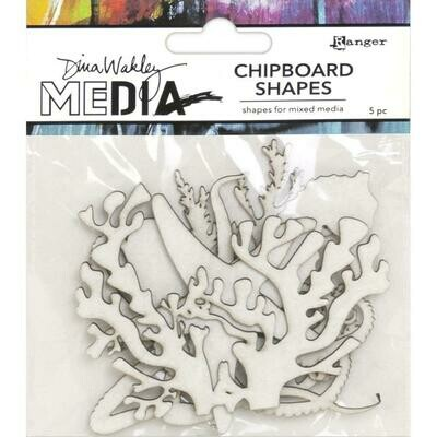 PREORDER Dina Wakley Media Chipboard Shapes Ocean