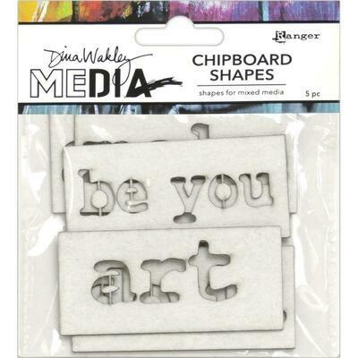 PREORDER Dina Wakley Media Chipboard Shapes Words