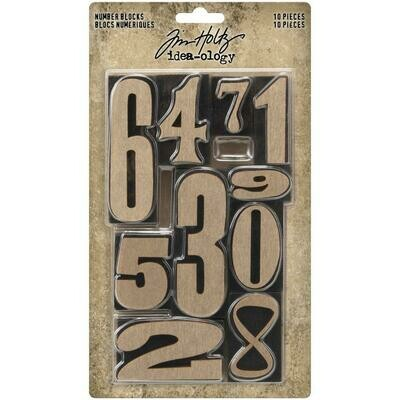 PREORDER Tim Holtz Idea-Ology Number Blocks