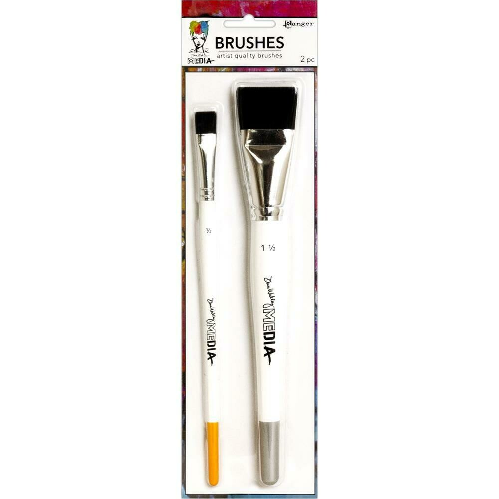 "PREORDER Dina Wakley Media Stiff Bristle Brushes 1.5"" & .5"""