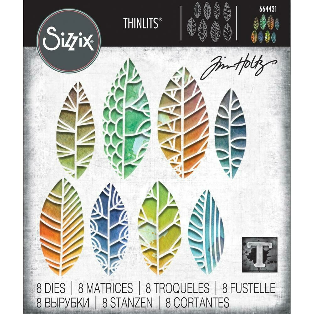 PREORDER Tim Holtz Sizzix Thinlits Dies Cut-Out Leaves