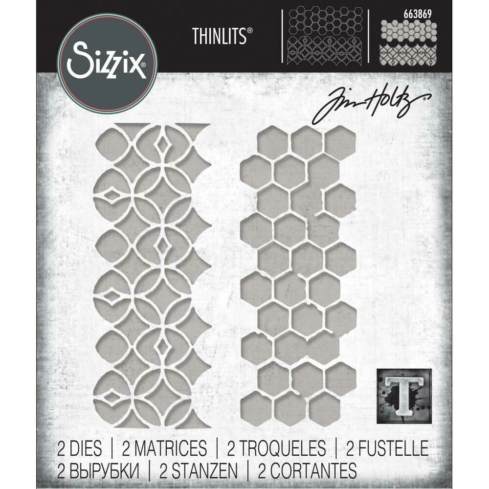 PREORDER Tim Holtz Sizzix Thinlits Dies Pattern Repeat
