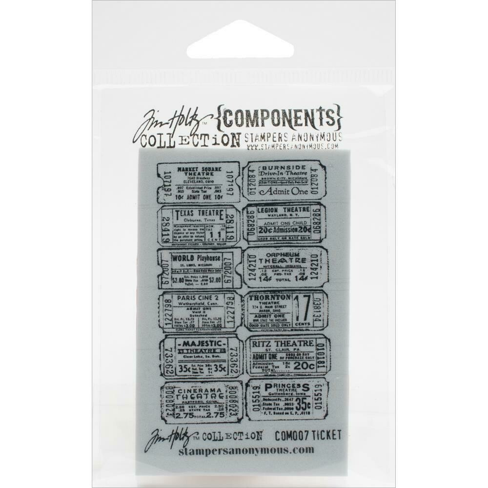 """Tim Holtz Cling Stamps 2.5""""X3.5"""""""