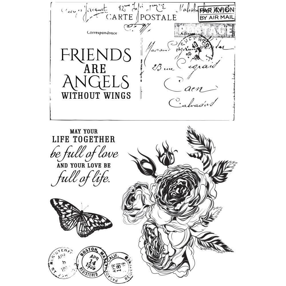 """Kaisercraft Rose Avenue Clear Stamps 6""""X4"""""""