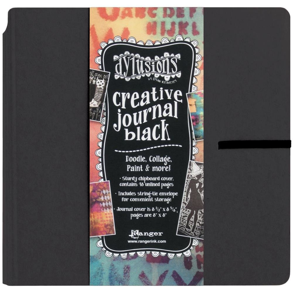 "Dylusions Creative Journal Black 8.75""x9"""