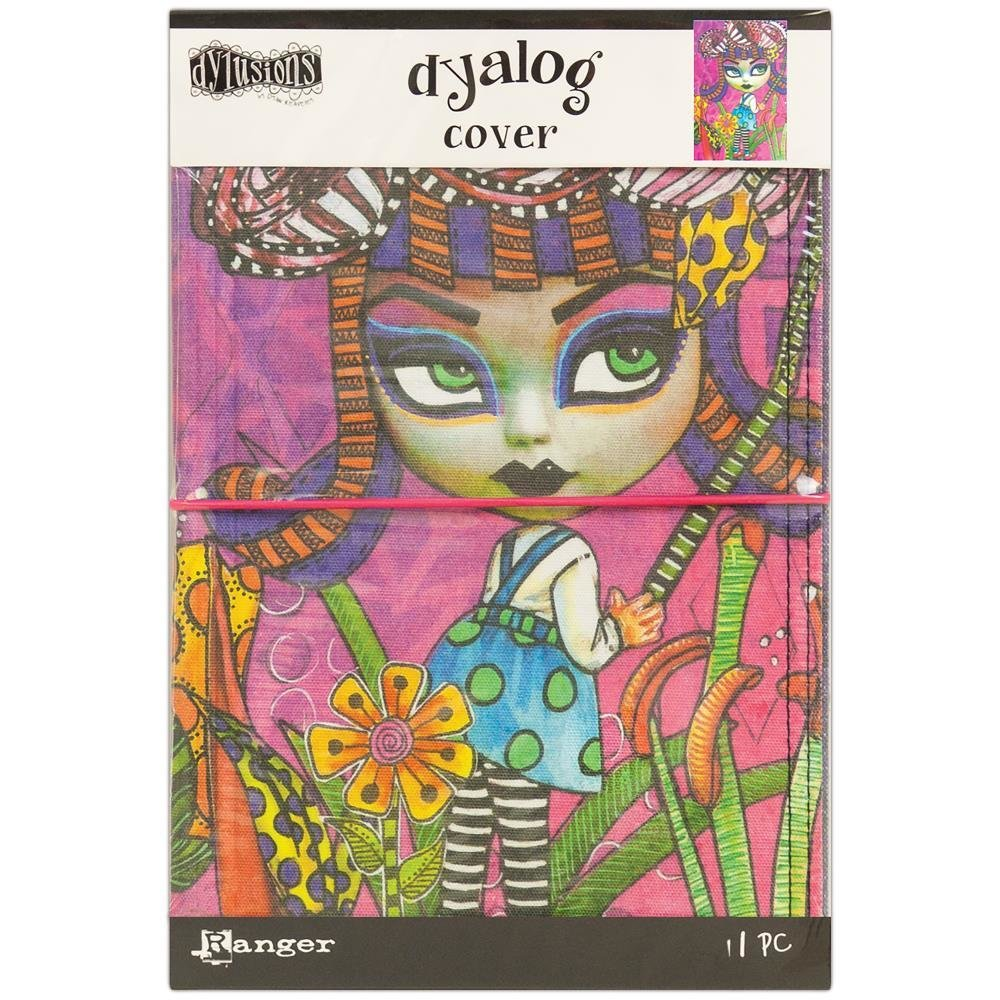 """Dylusions Dyalog Canvas Printed Cover 5""""X8"""""""