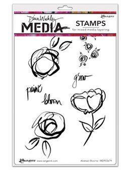 "Dina Wakley Media Cling Stamps 6""X9"""