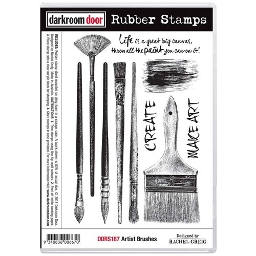 Darkroom Door Rubber Stamp Set