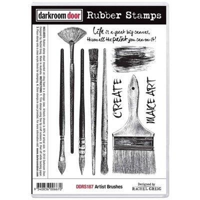 Darkroom Door Rubber Stamp Set