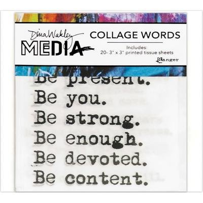 Dina Wakley Media Collage Word Pack