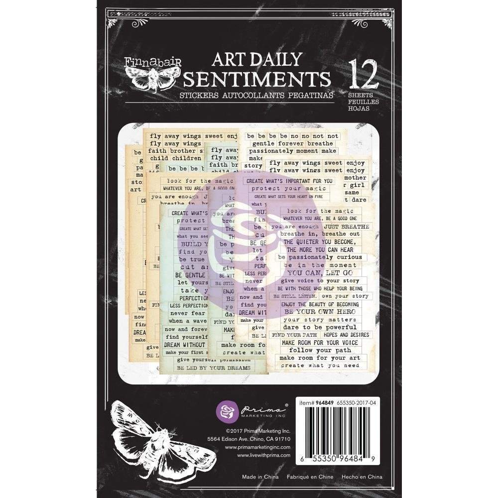 "Prima Art Daily Planner Sticker Pad 4.5""X7.5"" 12/Pkg"