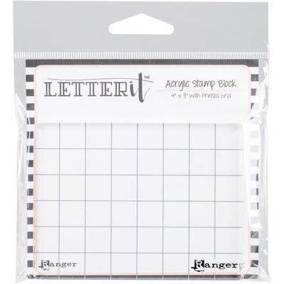 Ranger Letter It Acrylic Stamping Block 4