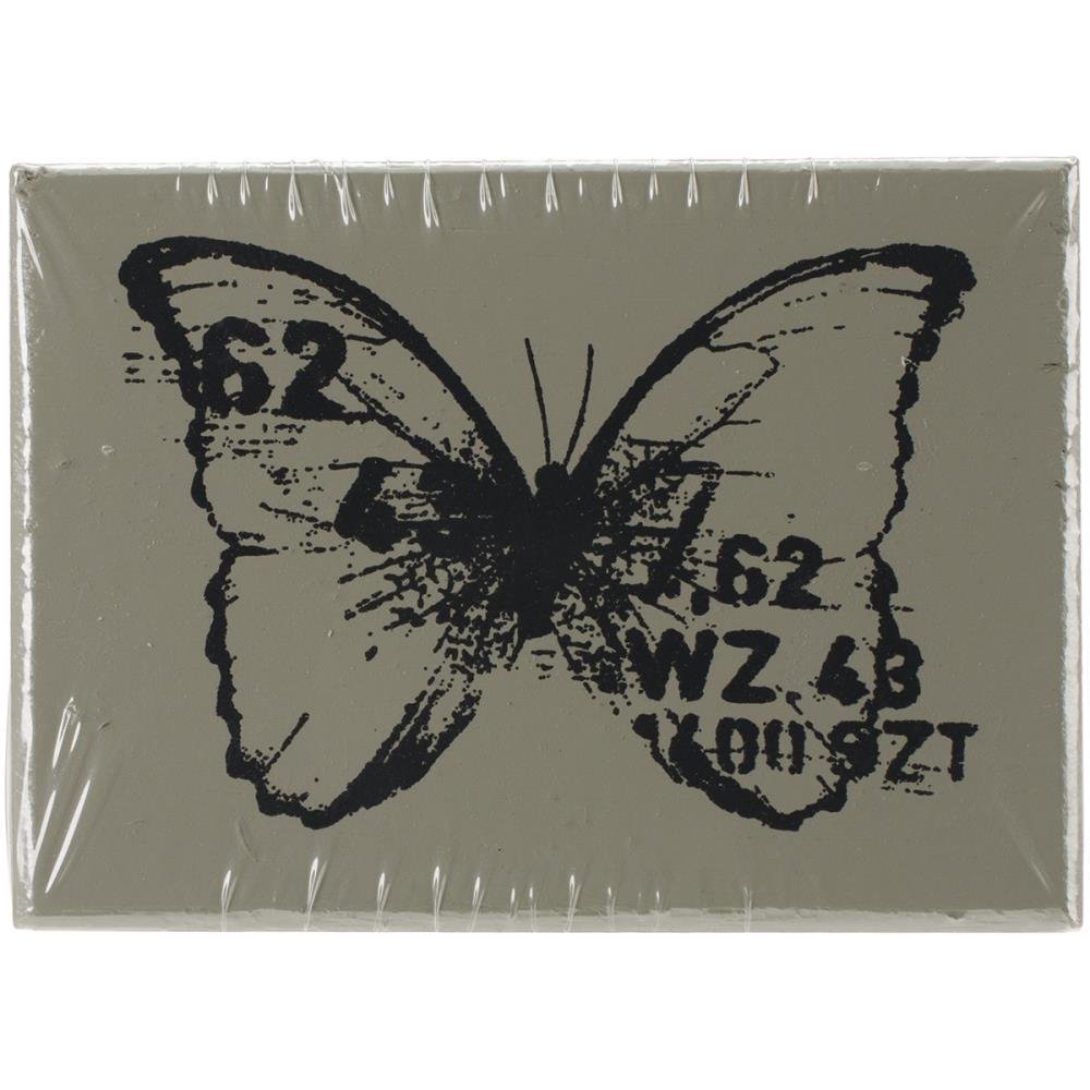 "Finnabair Wood Mounted Stamp Butterfly 1.5""X2"""