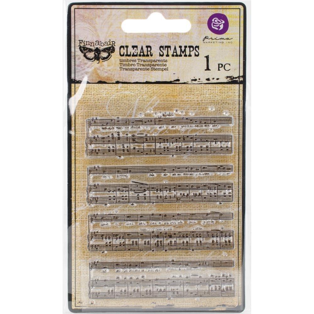 """Finnabair Clear Stamp Music 3""""X4"""""""