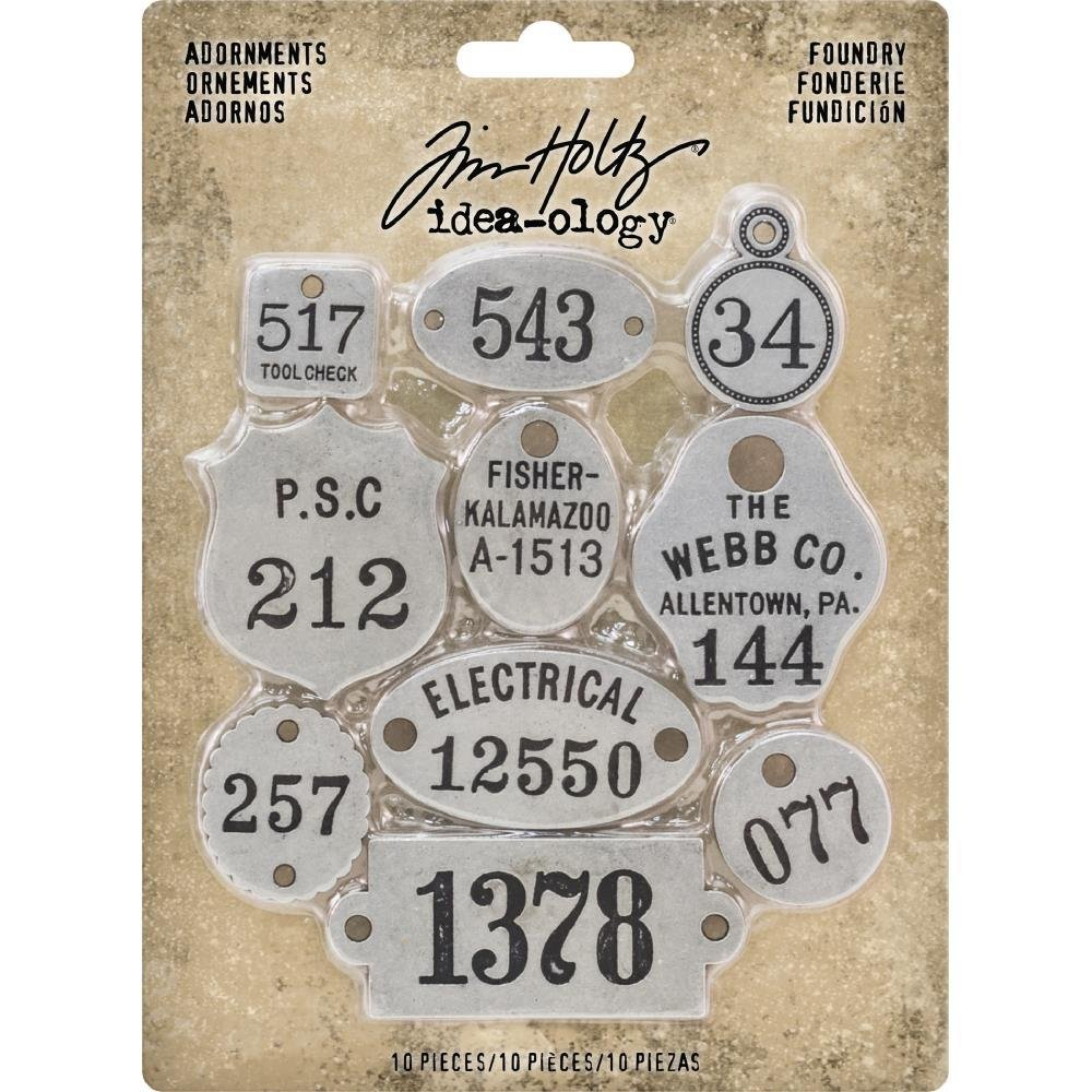 Tim Holtz Idea-Ology Metal Adornments Foundry