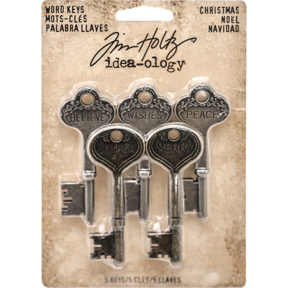 Tim Holtz Idea-Ology Metal Word Keys Christmas