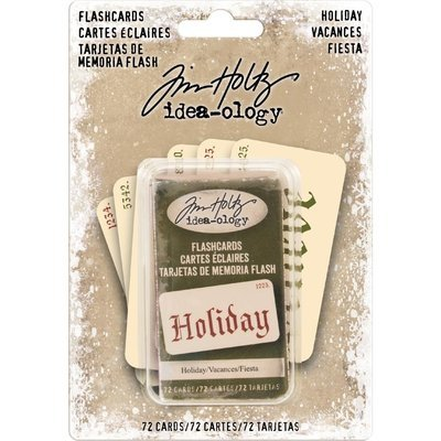 Tim Holtz Idea-Ology Double-Sided Flashcards Holiday