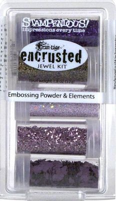 Stampendous Encrusted Jewel Embossing Powder & Elements Purple