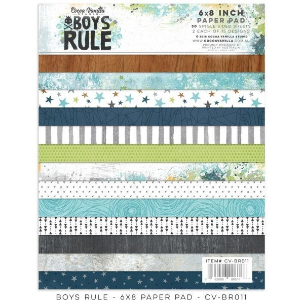 """Cocoa Vanilla Boys Rule 6""""x8"""" Paper Pad"""