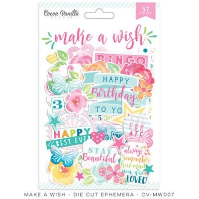 Cocoa Vanilla Make A Wish Die Cut Ephemera