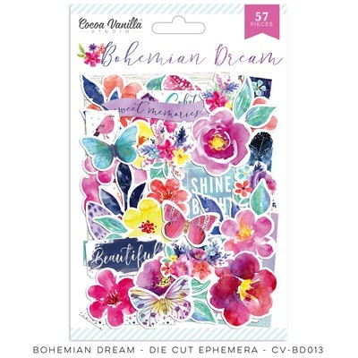 Cocoa Vanilla Bohemian Dream Die Cut Ephemera