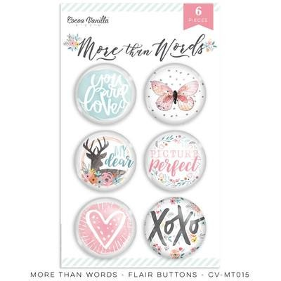Cocoa Vanilla More Than Words Flair Buttons