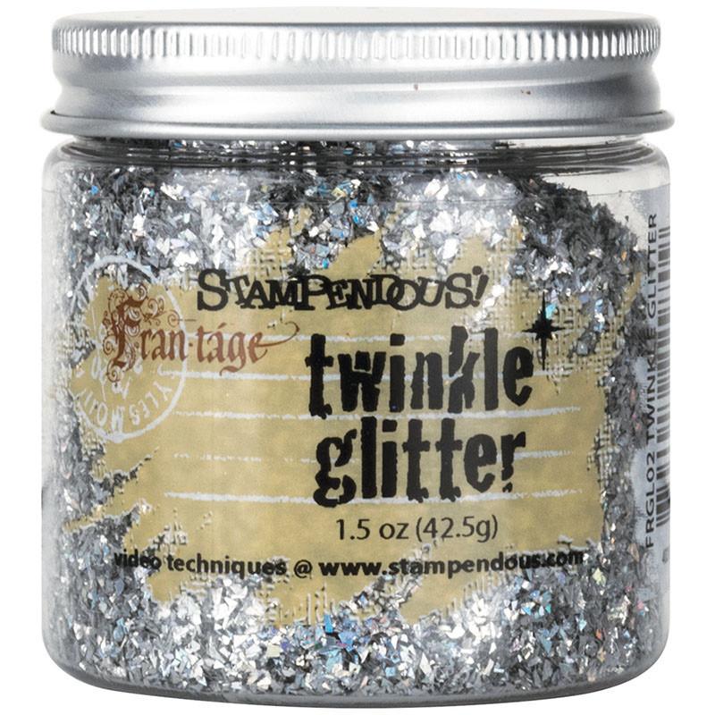 Stampendous Frantage Vintage Twinkle Glitter Silver