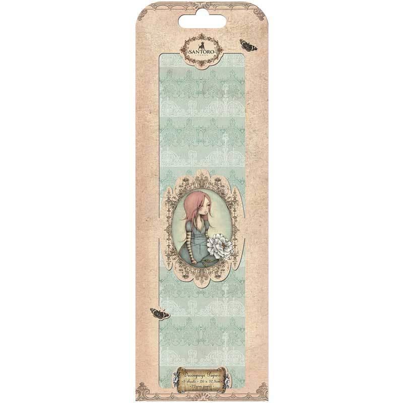 Santoro Decoupage Paper Sheets Decorative