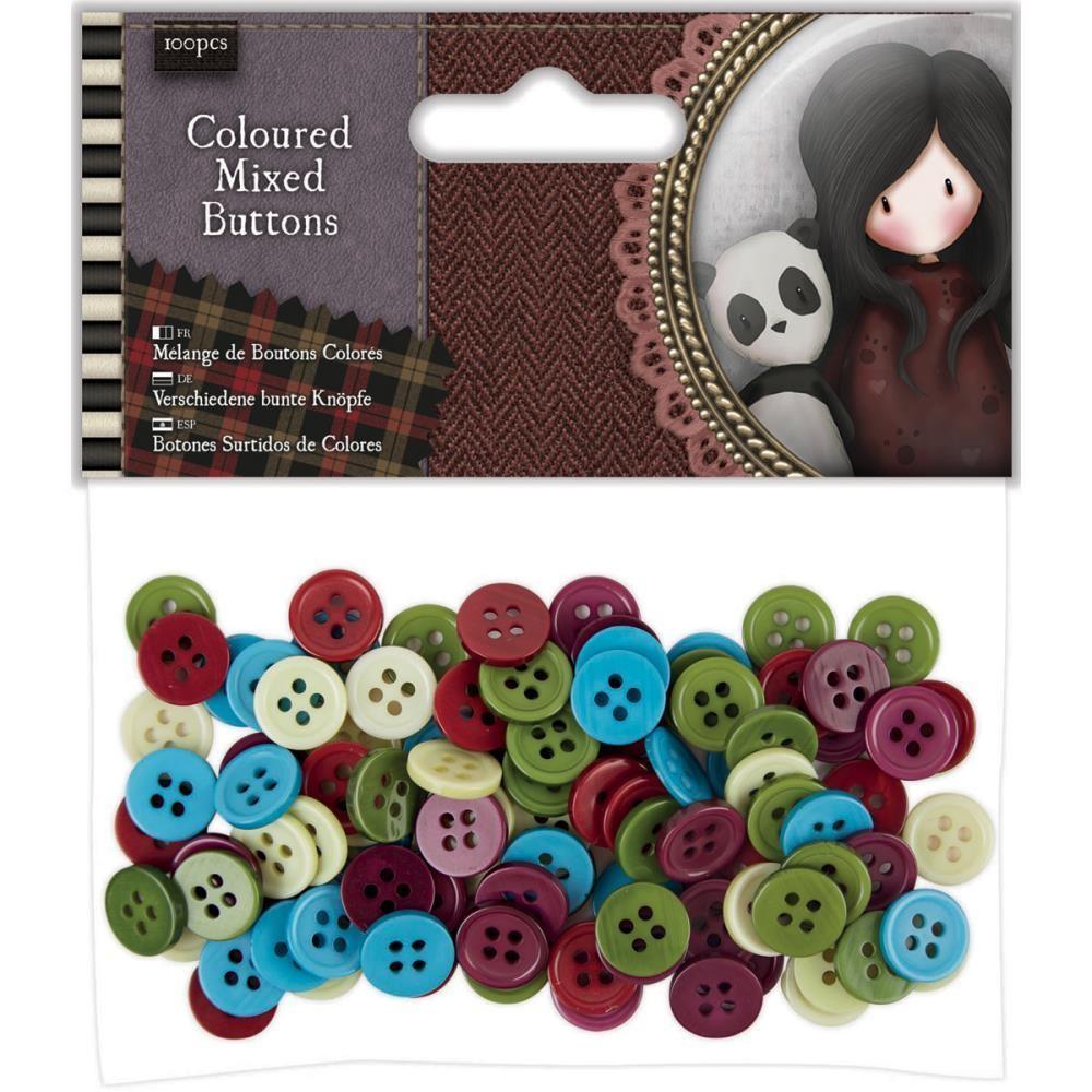 Santoro's Gorjuss Tweed Mixed Buttons