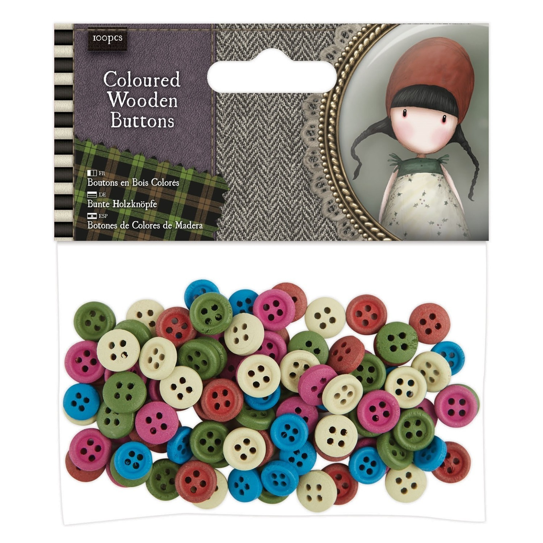Santoro's Gorjuss Tweed Wooden Buttons