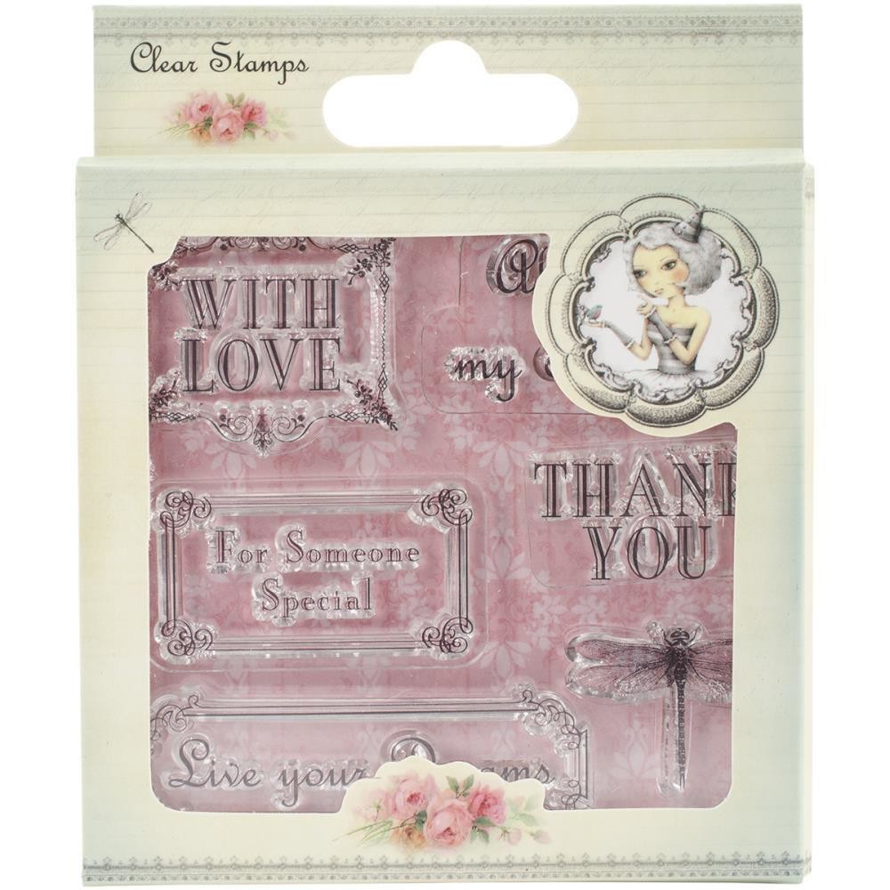 Santoro Mirabelle 2 Clear Stamps Sentiment