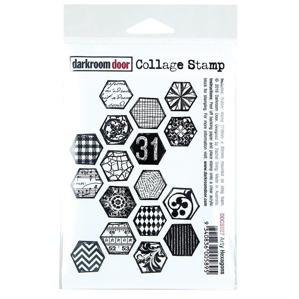 """Darkroom Door Collage Cling Stamp 4.5""""X3"""""""
