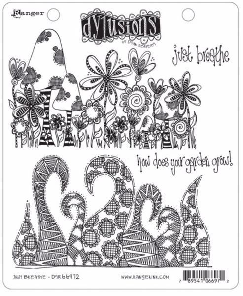 Dylusions Cling Stamp Just Breathe