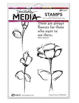Dina Wakley Media Cling Stamps Always Flowers