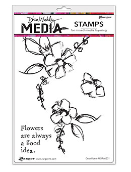 Dina Wakley Media Cling Stamps Good Idea