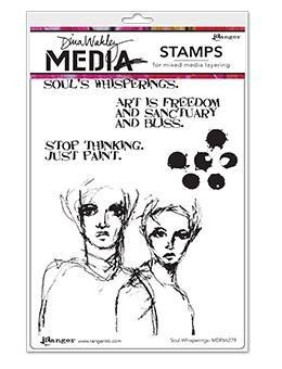 Dina Wakley Media Cling Stamps Soul Whisperings