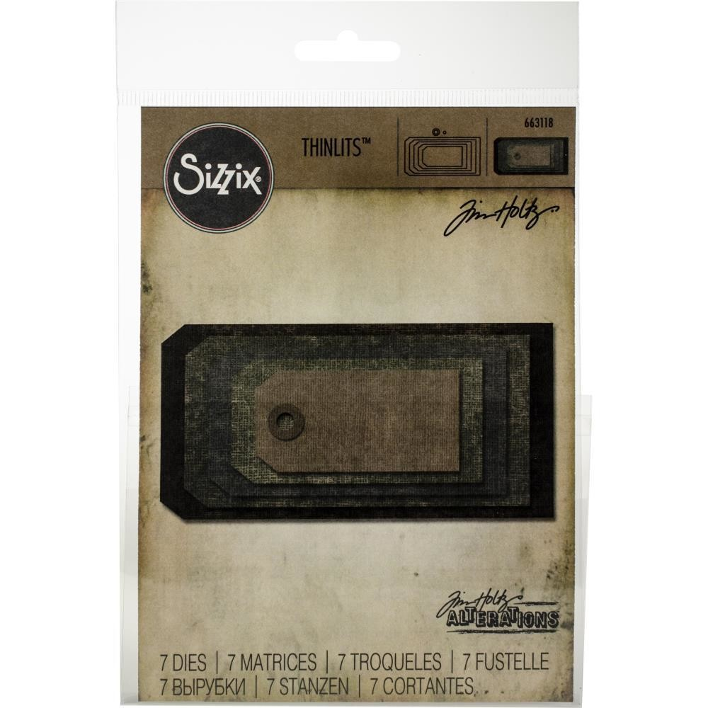 Tim Holtz Sizzix Thinlits Dies Stacked Tags
