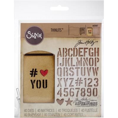 Tim Holtz Sizzix Thinlits Dies Gift Card Bag