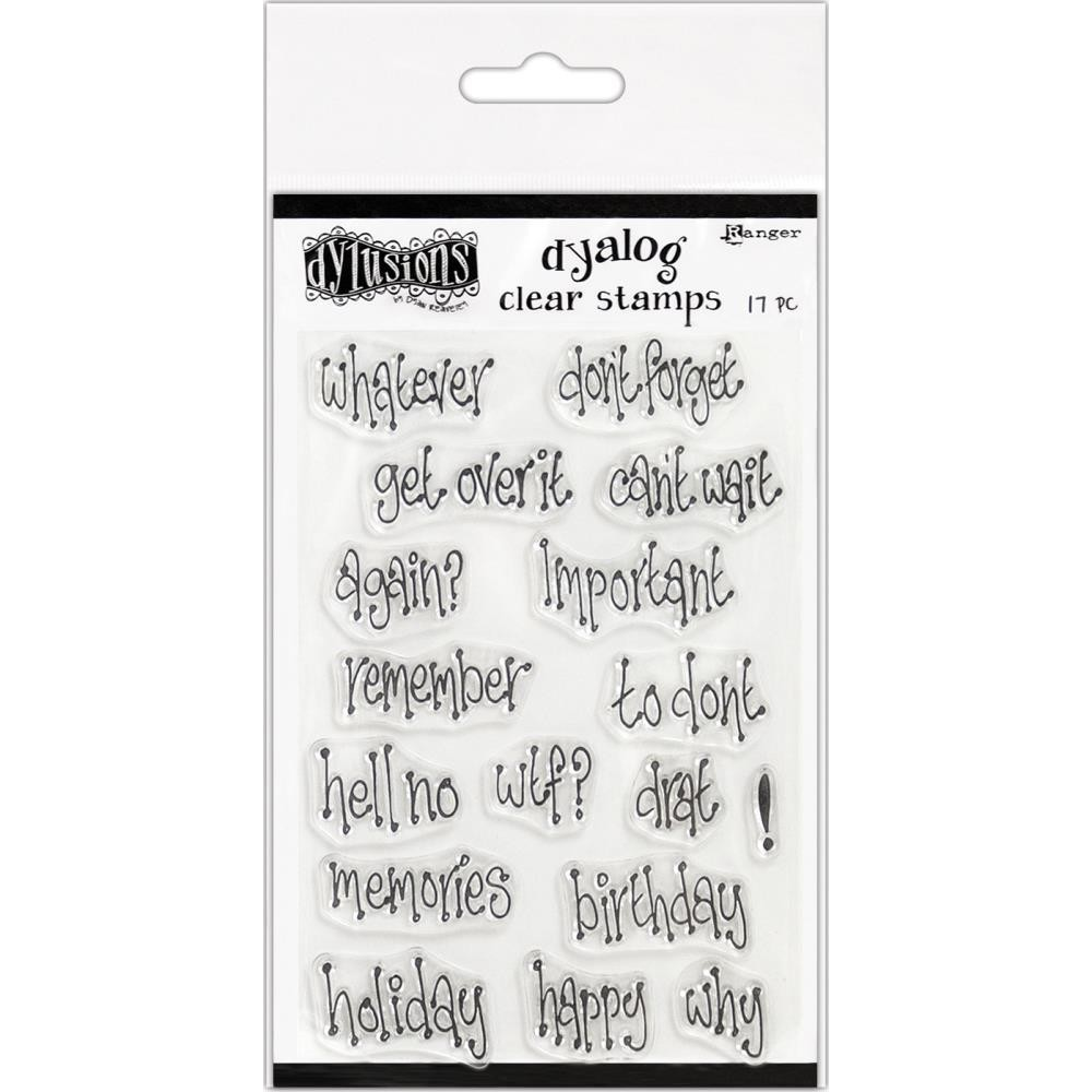 """Dylusions Clear Stamps 4""""X8"""" Whatever"""