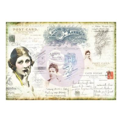 PREORDER Finnabair Mixed Media Tissue Paper Carte Postale