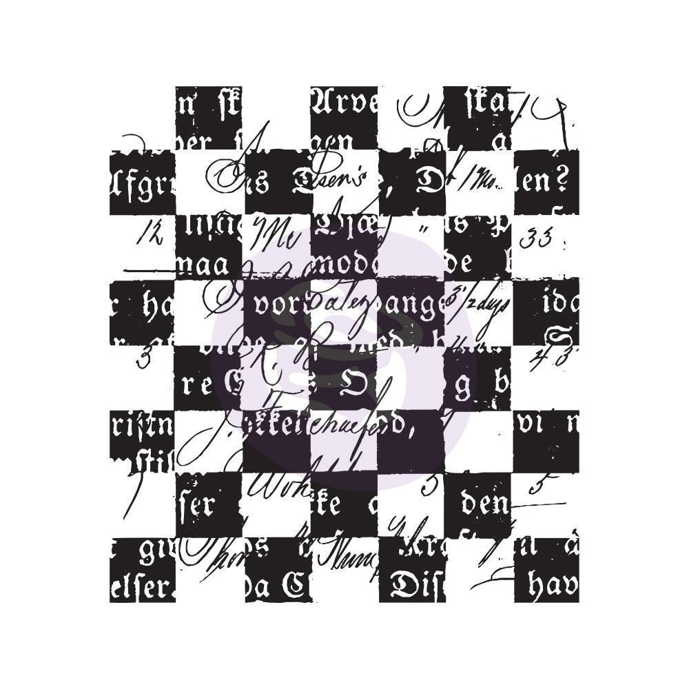 """Finnabair Clear Stamp 2.5""""X2.5"""" Checker Texts"""