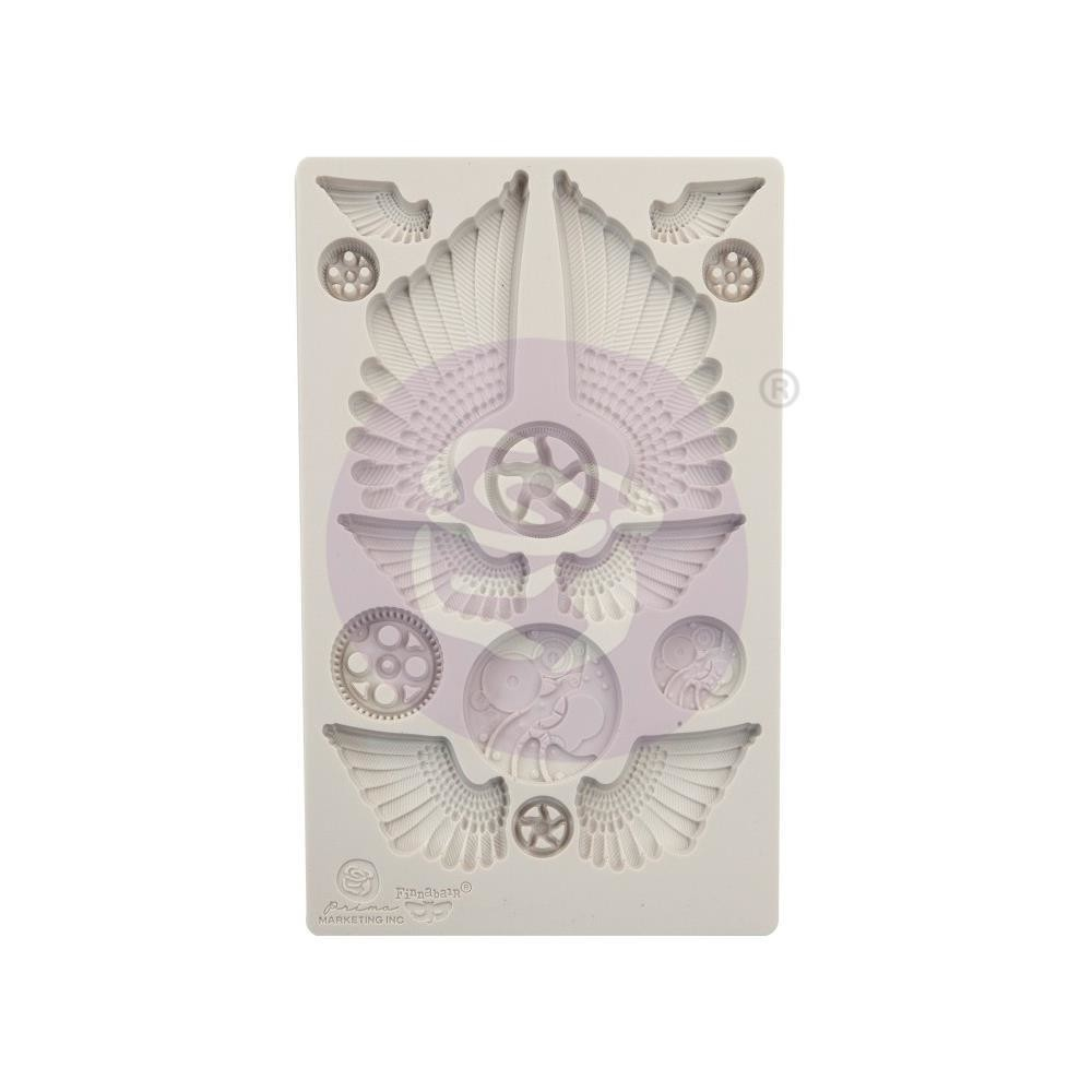 "PREORDER Finnabair Decor Moulds 5""X8"" Cogs & Wings"