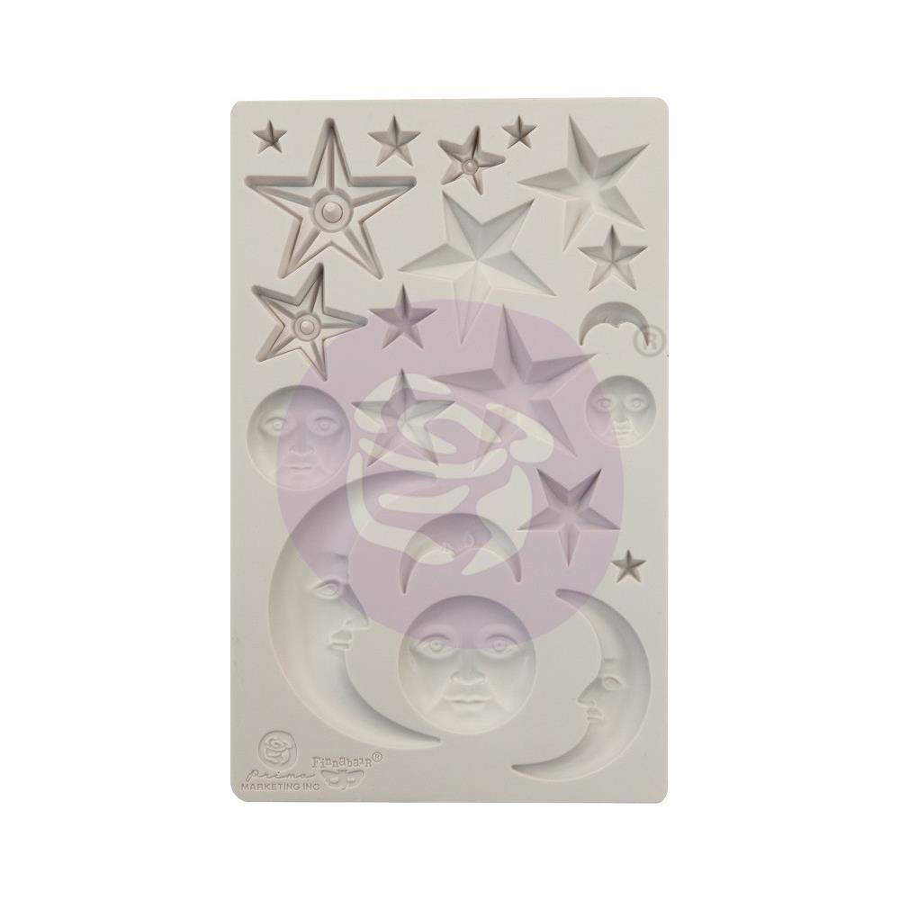 "Finnabair Decor Moulds 5""X8"" Star & Moons"