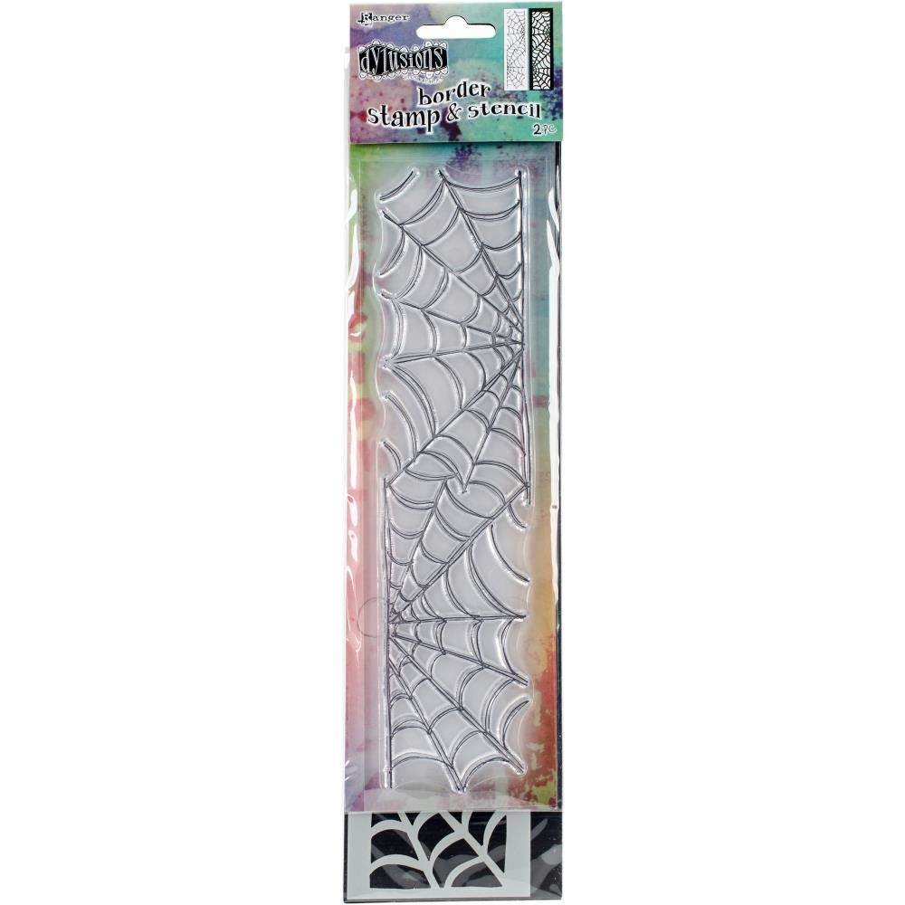 "Dyan Reaveley's Dylusions Clear Stamp & Stencil Set 9"" Cobweb"