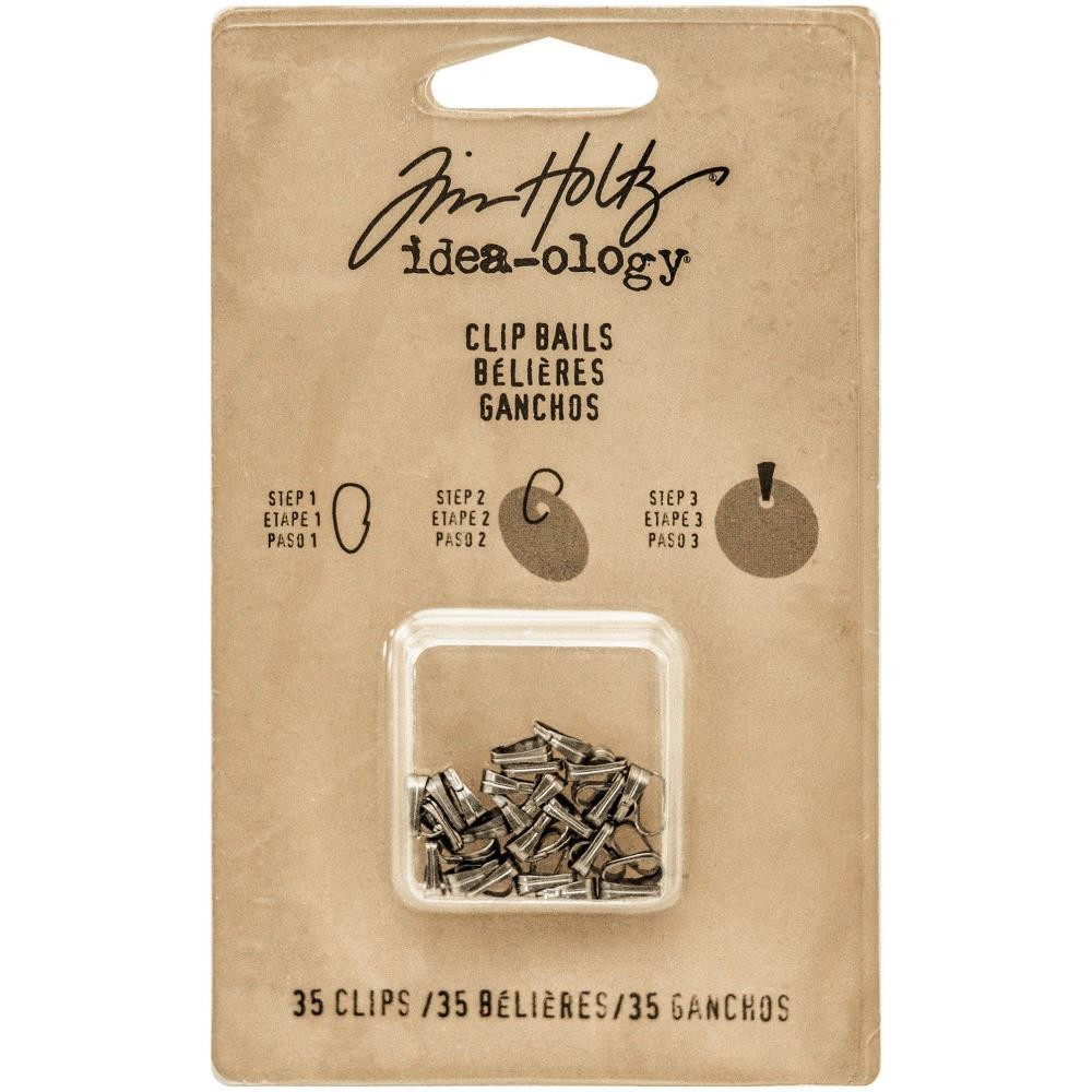 Tim Holtz Idea-Ology Clip Bails Antique Nickel