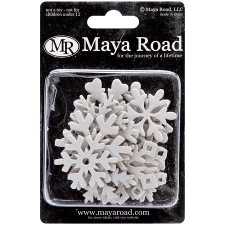 Maya Road Chipboard Set Snowflakes