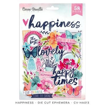 Cocoa Vanilla Happiness Die Cut Ephemera
