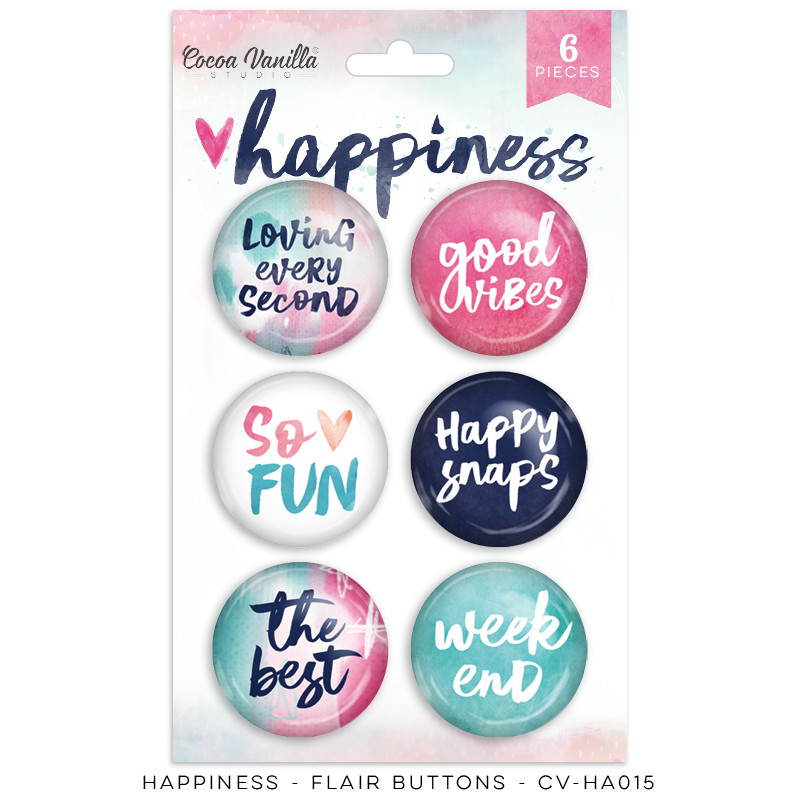 PREORDER Cocoa Vanilla Happiness Flair Buttons