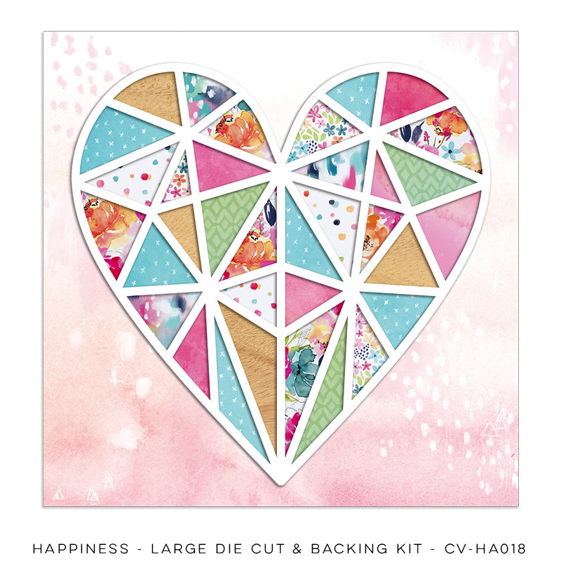 PREORDER Cocoa Vanilla Happiness Large Die Cut & Backing Kit